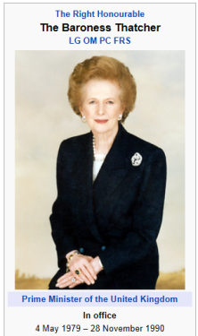 picture - margaret thatcher