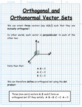 ortho math  vectors matrix linear